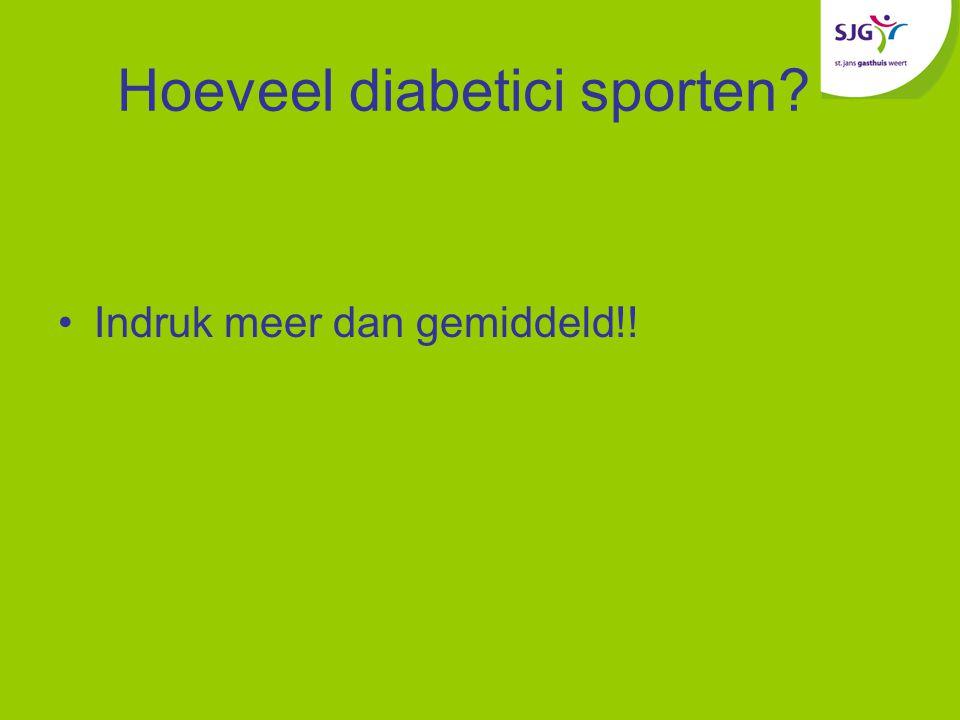 Hoeveel diabetici sporten