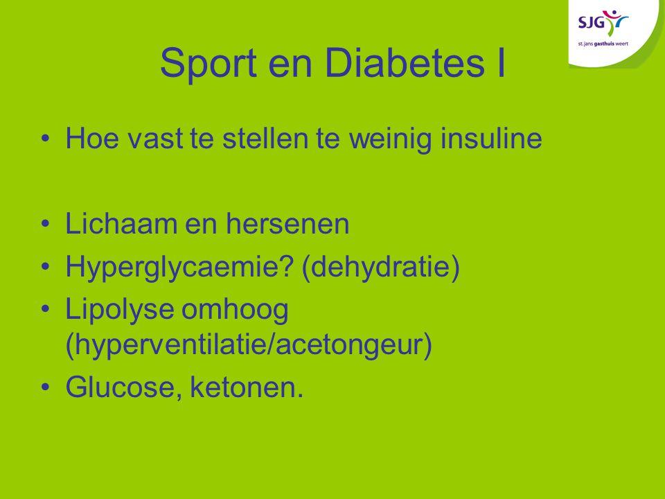 Sport en Diabetes I Hoe vast te stellen te weinig insuline