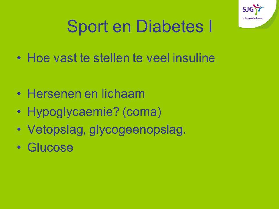 Sport en Diabetes I Hoe vast te stellen te veel insuline
