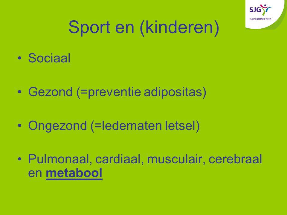Sport en (kinderen) Sociaal Gezond (=preventie adipositas)