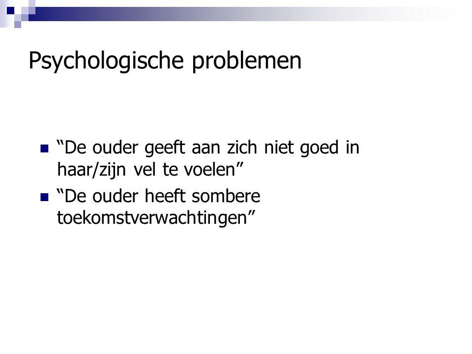 Psychologische problemen