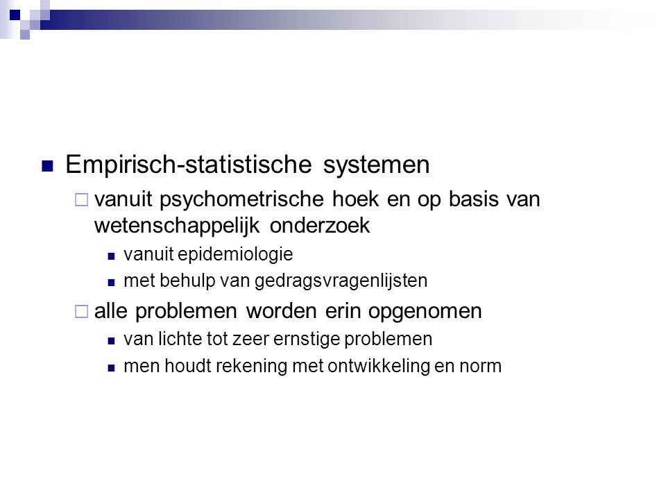 Empirisch-statistische systemen