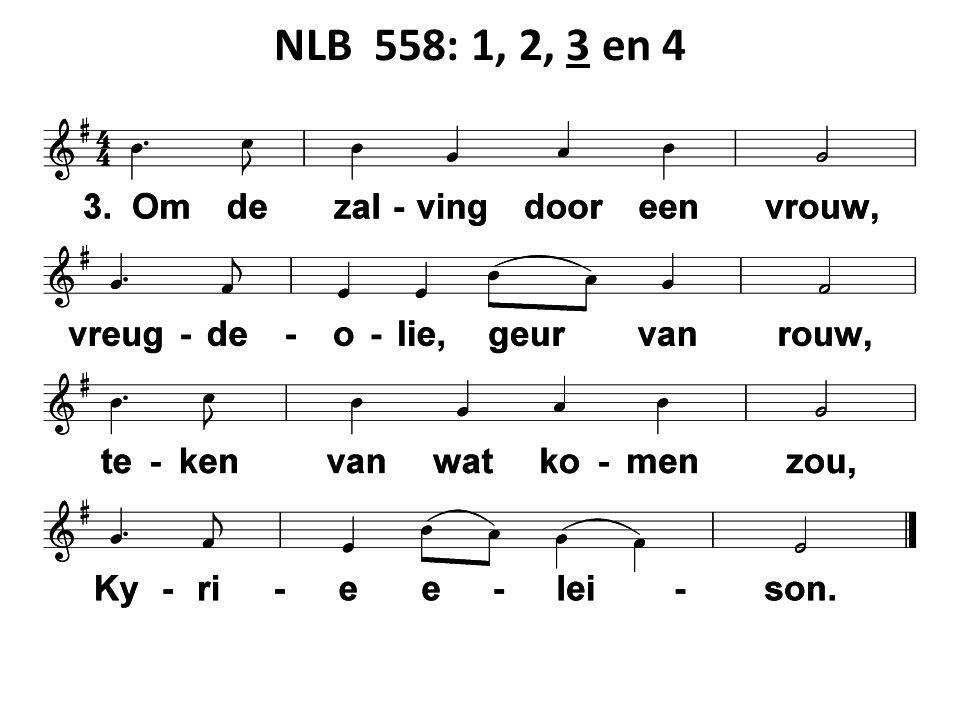 NLB 558: 1, 2, 3 en 4