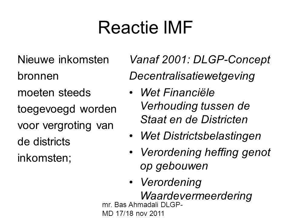 Reactie IMF Nieuwe inkomsten bronnen moeten steeds toegevoegd worden
