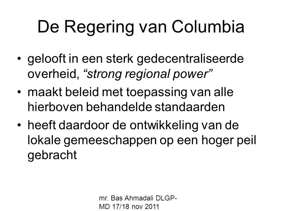De Regering van Columbia