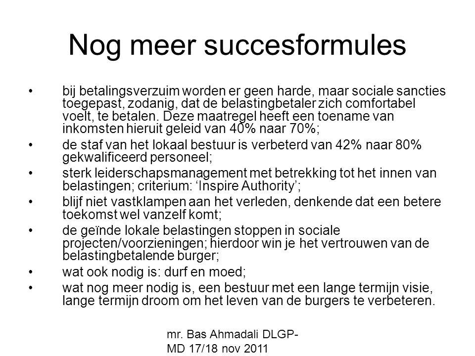 Nog meer succesformules