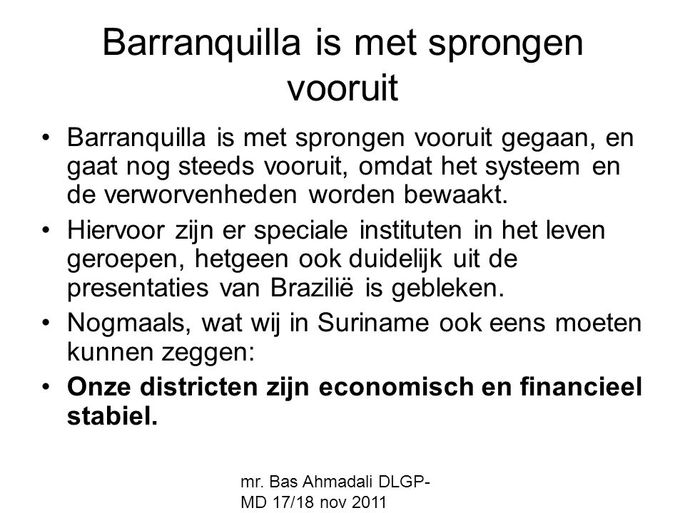 Barranquilla is met sprongen vooruit