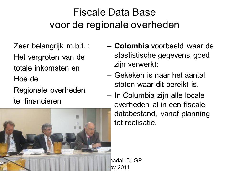 Fiscale Data Base voor de regionale overheden