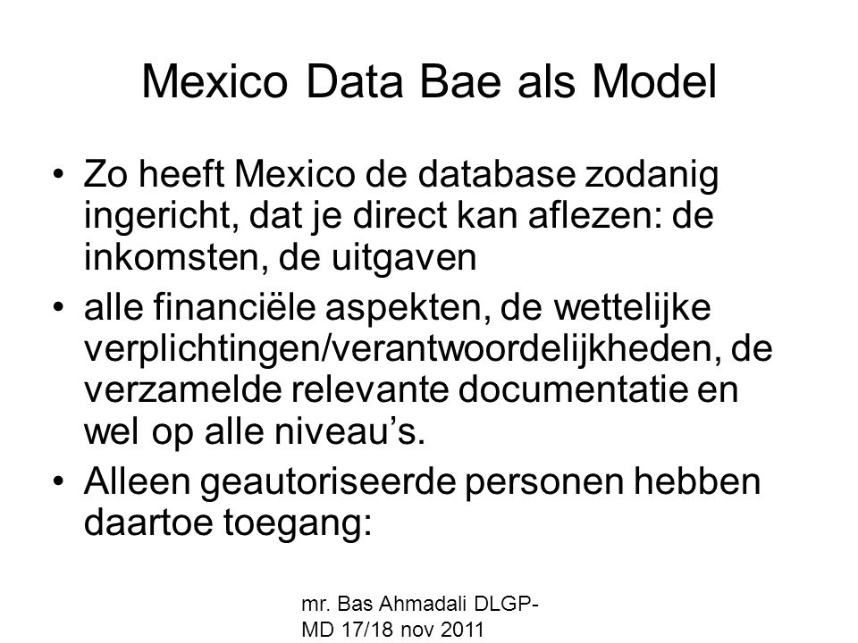 Mexico Data Bae als Model