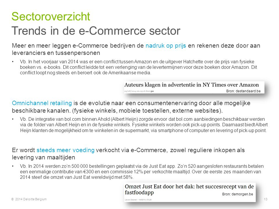 Trends in de e-Commerce sector