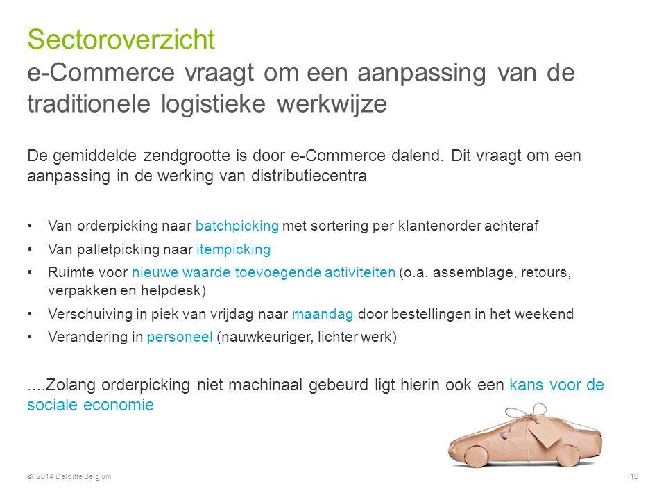 Sectoroverzicht e-Commerce vraagt om een aanpassing van de traditionele logistieke werkwijze.