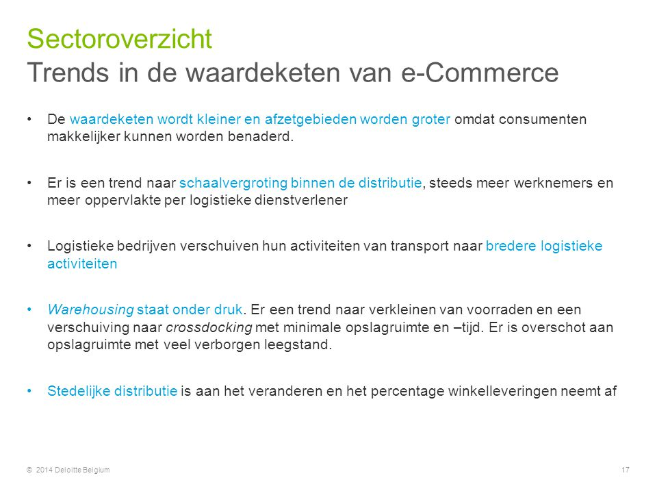 Trends in de waardeketen van e-Commerce