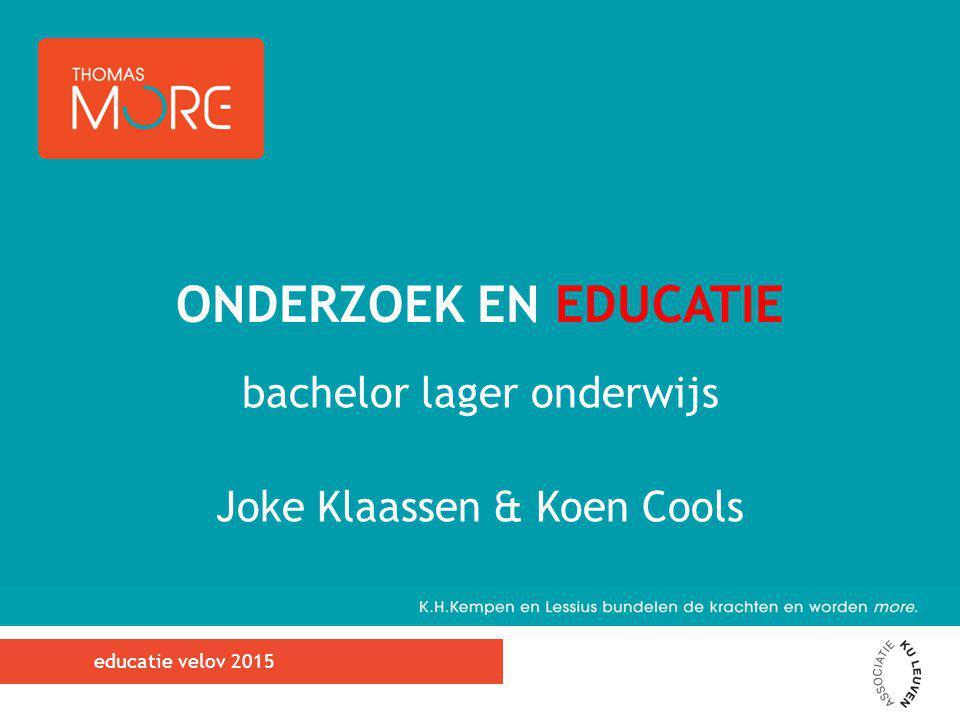 bachelor lager onderwijs Joke Klaassen & Koen Cools
