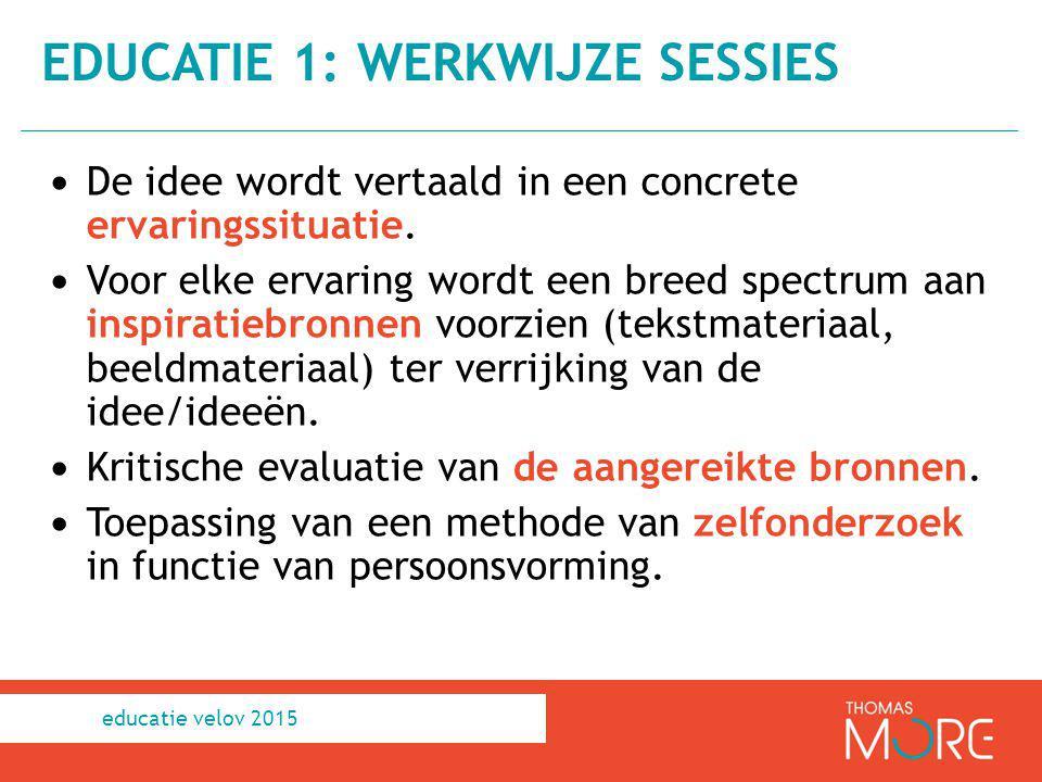 educatie 1: werkwijze sessies