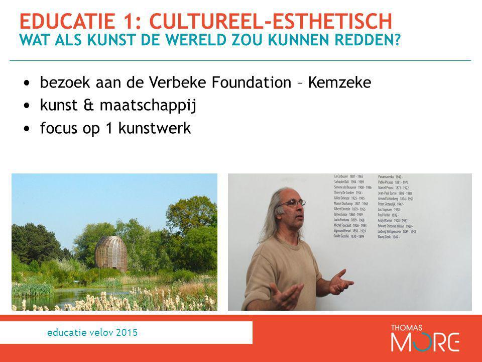 educatie 1: cultureel-esthetisch Wat als kunst de wereld zou kunnen redden