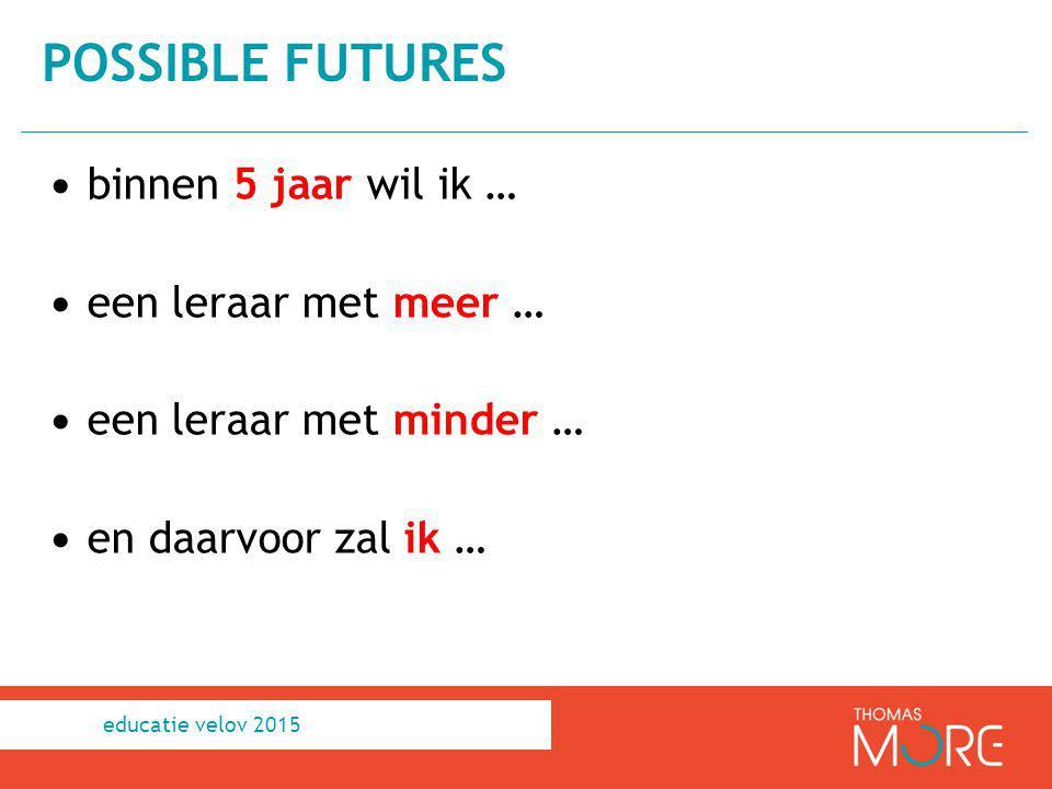 possible futures binnen 5 jaar wil ik … een leraar met meer …