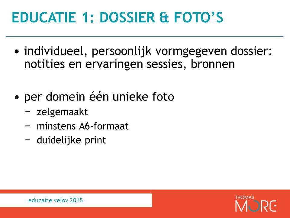 educatie 1: dossier & foto's