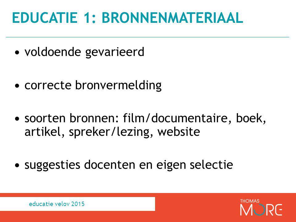 educatie 1: bronnenmateriaal