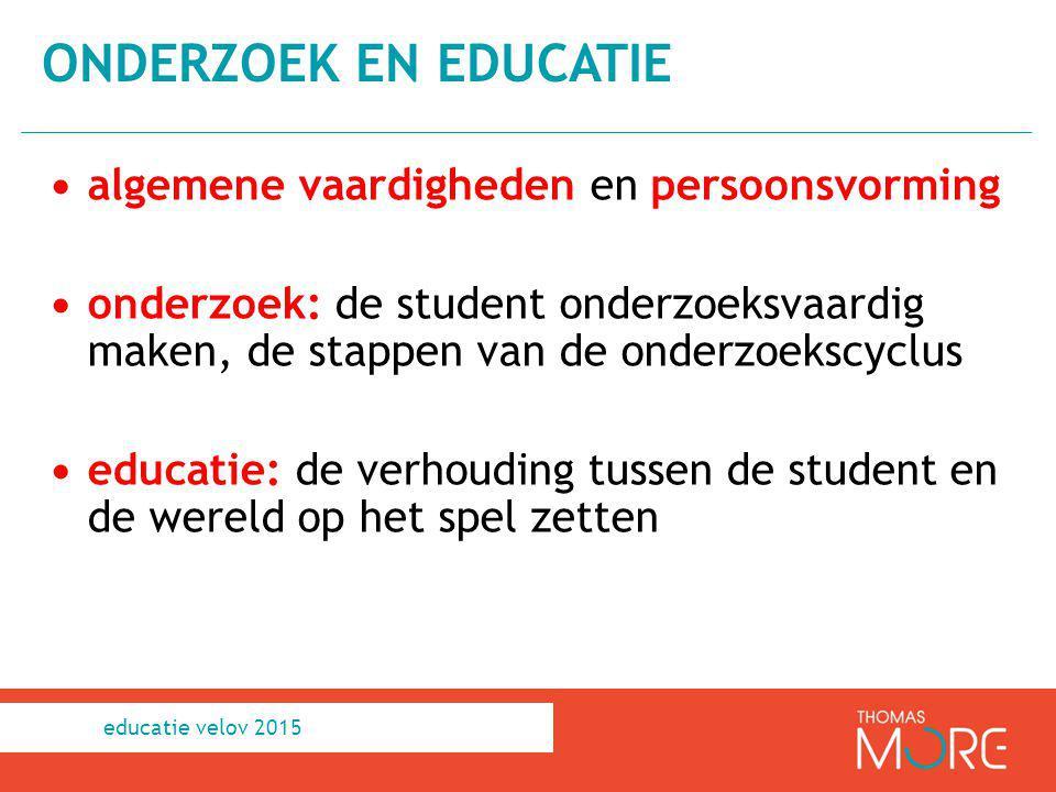 onderzoek en educatie algemene vaardigheden en persoonsvorming