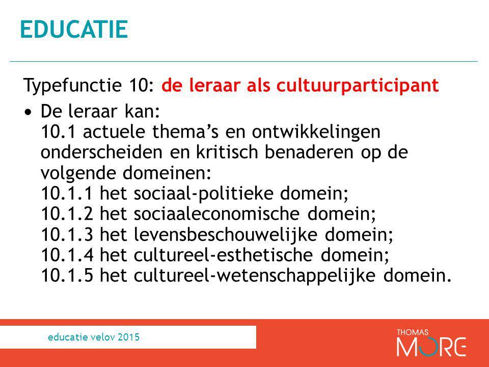 educatie Typefunctie 10: de leraar als cultuurparticipant