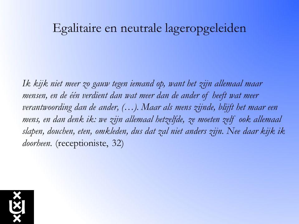Egalitaire en neutrale lageropgeleiden