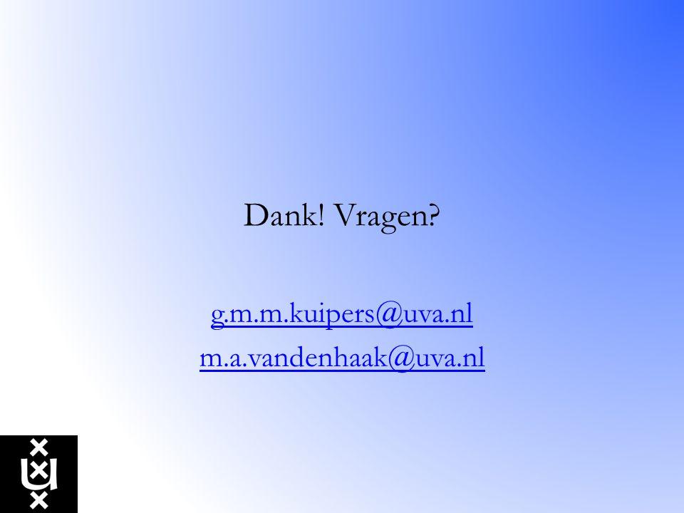 g.m.m.kuipers@uva.nl m.a.vandenhaak@uva.nl