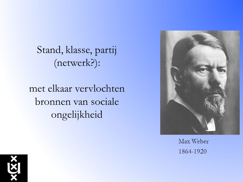 Stand, klasse, partij (netwerk