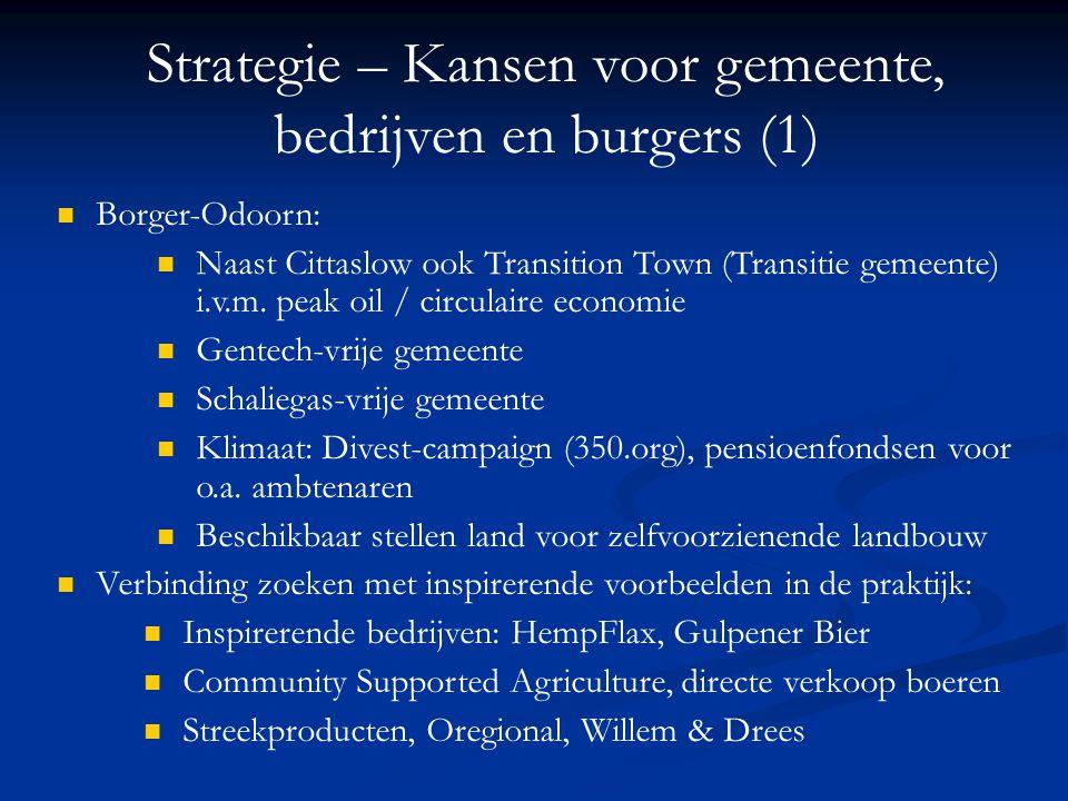 Strategie – Kansen voor gemeente, bedrijven en burgers (1)
