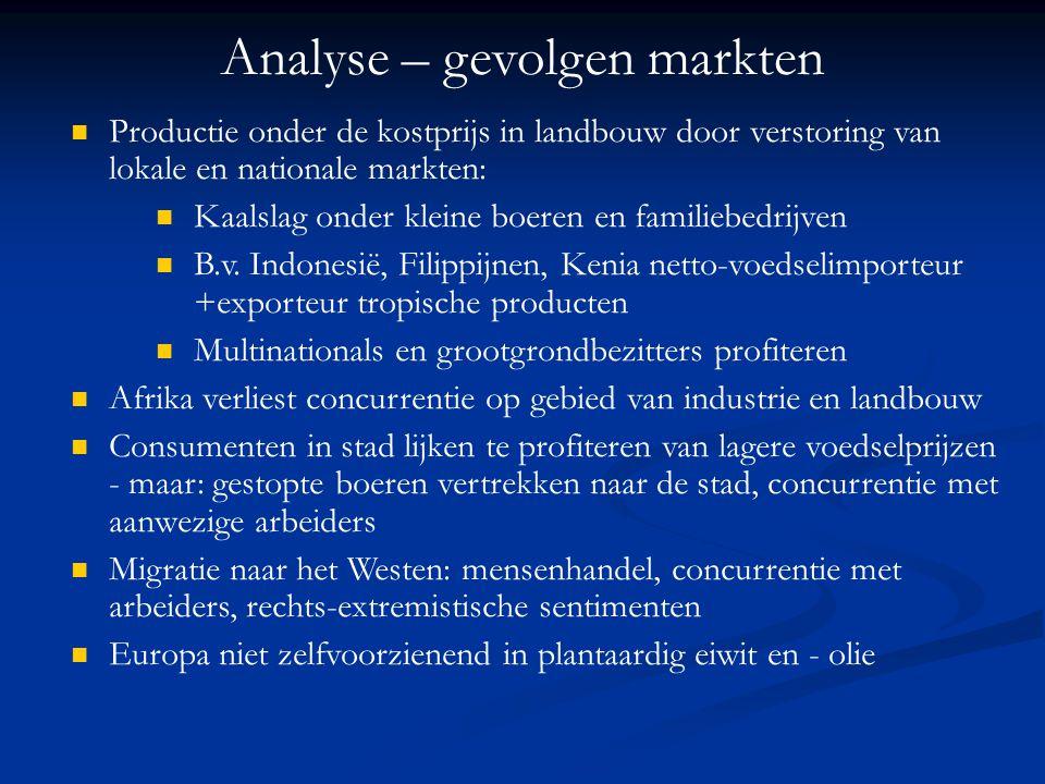 Analyse – gevolgen markten