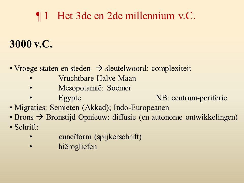 ¶ 1 Het 3de en 2de millennium v.C.