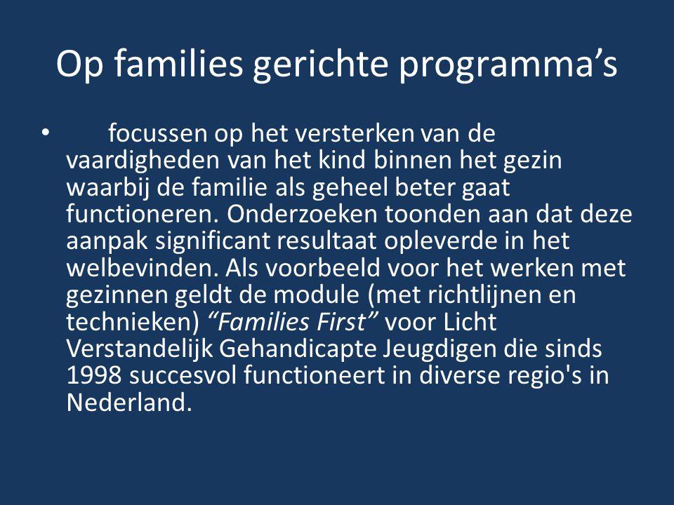 Op families gerichte programma's