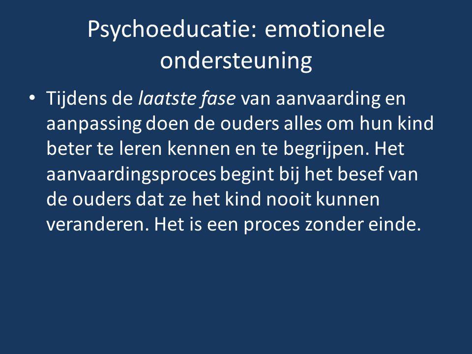 Psychoeducatie: emotionele ondersteuning