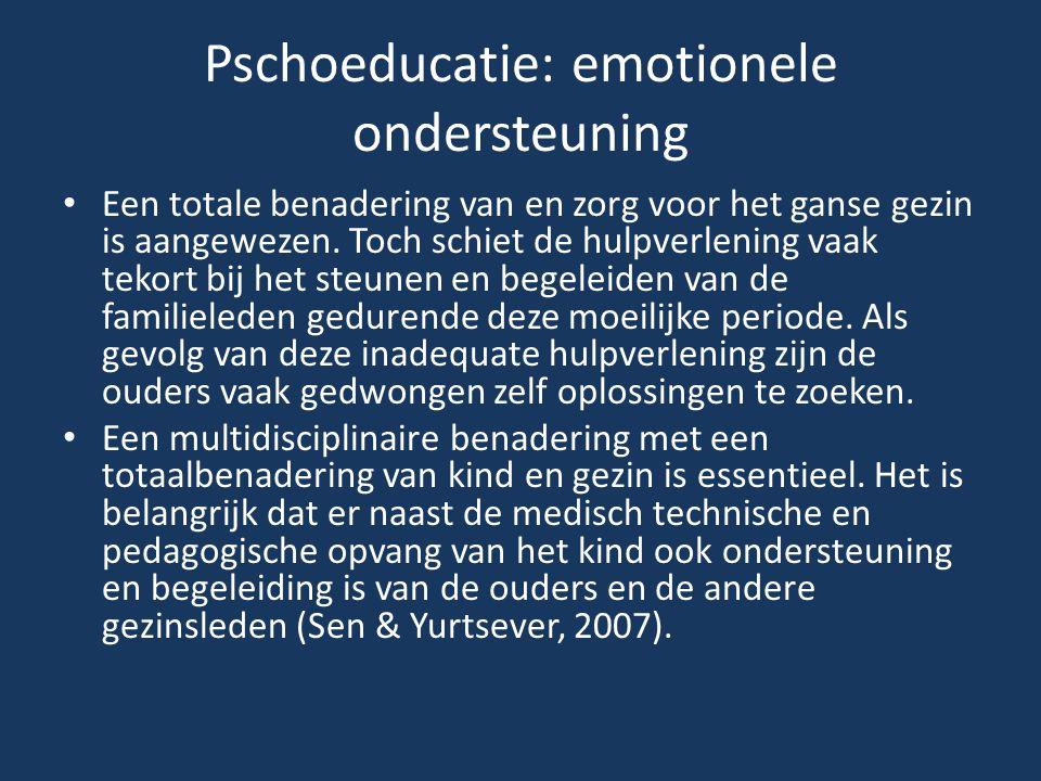 Pschoeducatie: emotionele ondersteuning