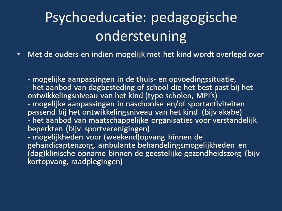 Psychoeducatie: pedagogische ondersteuning