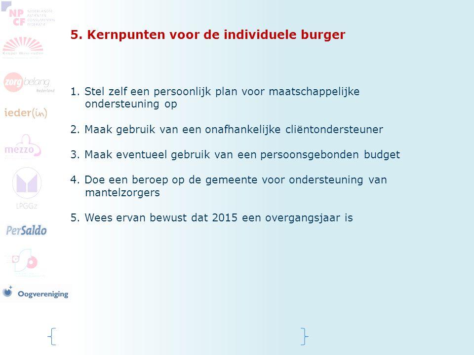 5. Kernpunten voor de individuele burger