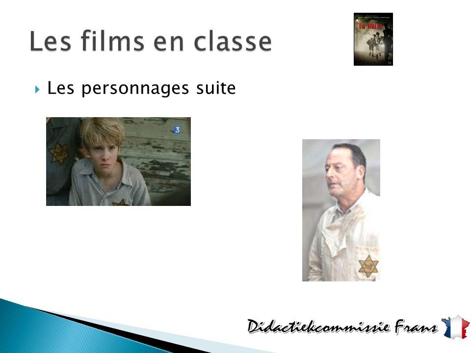 Les films en classe Les personnages suite
