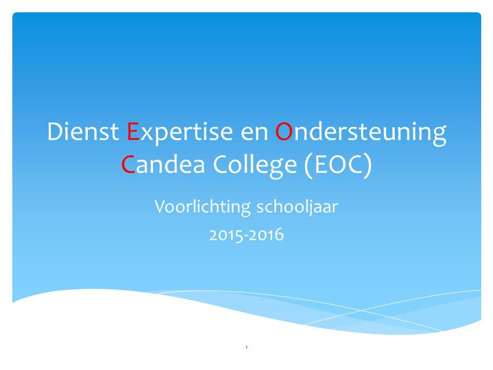Dienst Expertise en Ondersteuning Candea College (EOC)
