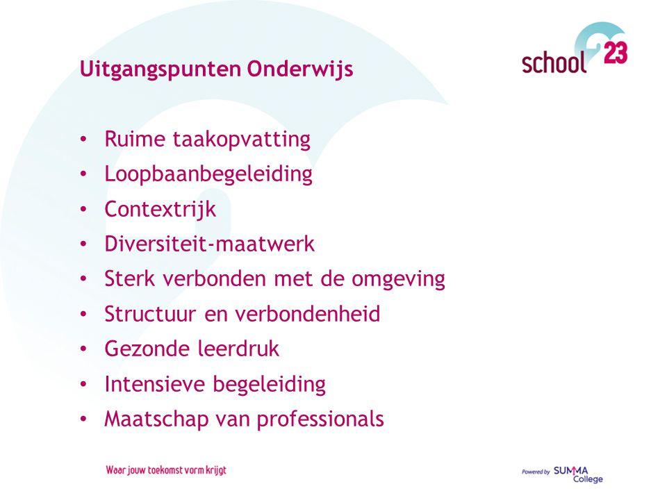 Uitgangspunten Onderwijs