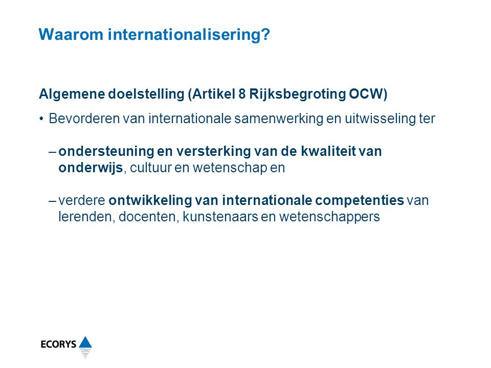 Waarom internationalisering