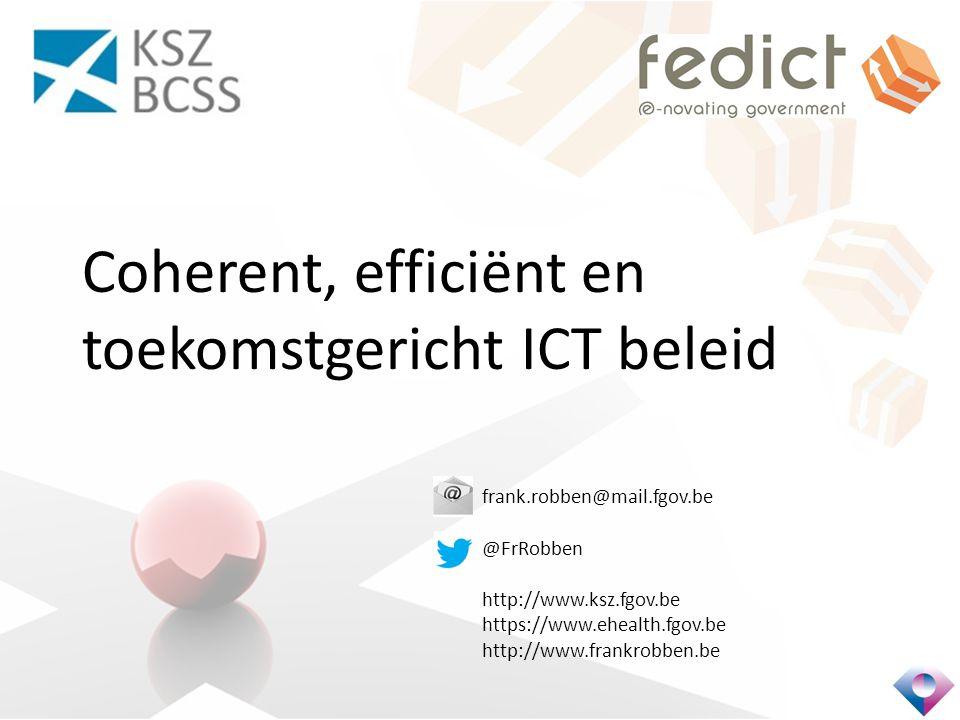 Coherent, efficiënt en toekomstgericht ICT beleid