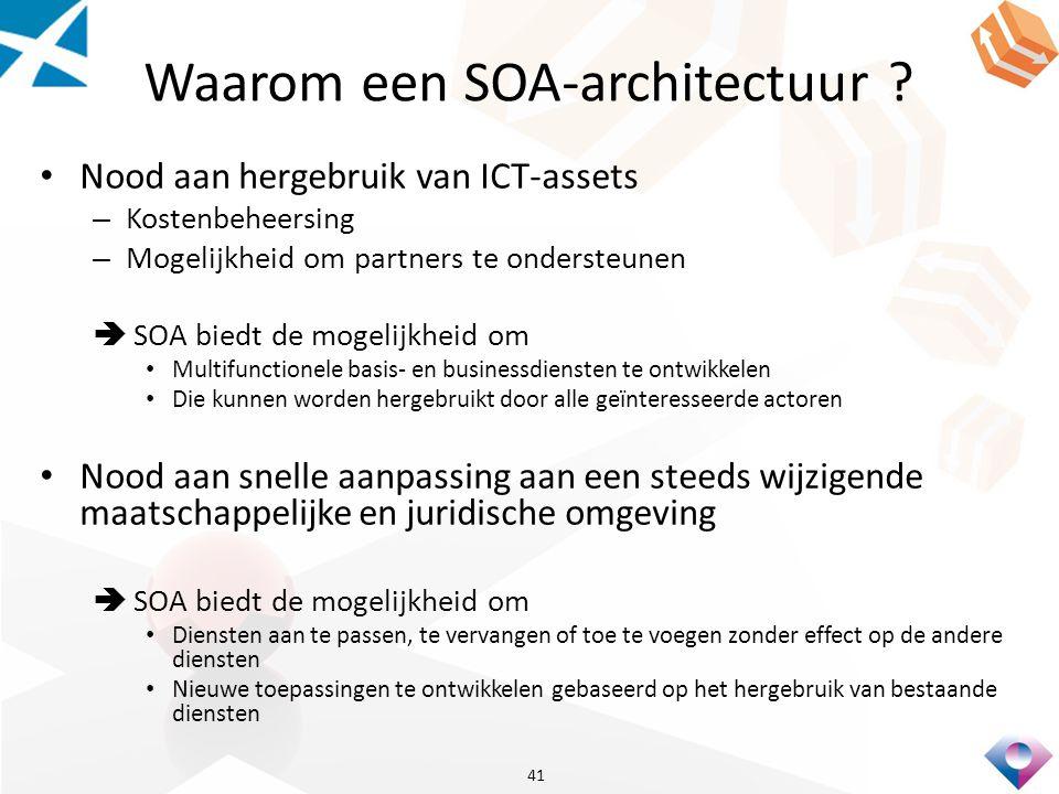 Waarom een SOA-architectuur