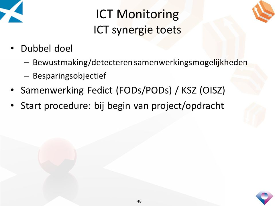 ICT Monitoring ICT synergie toets