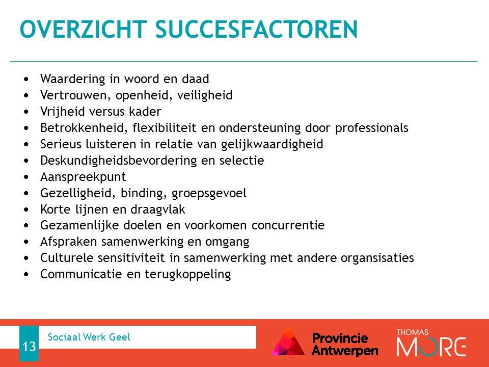 Overzicht succesfactoren