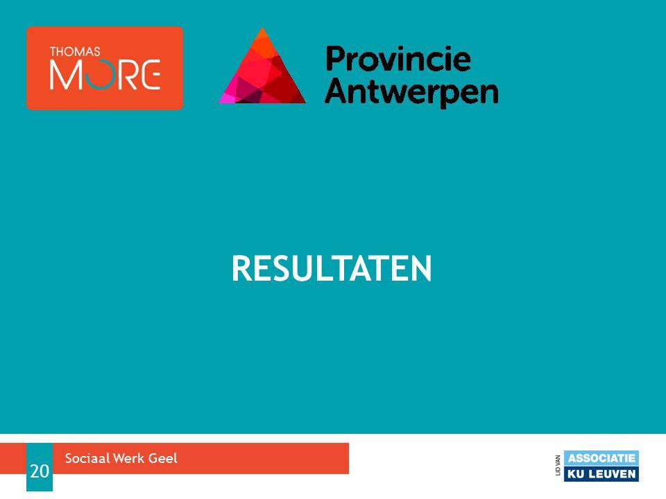 resultaten Sociaal Werk Geel