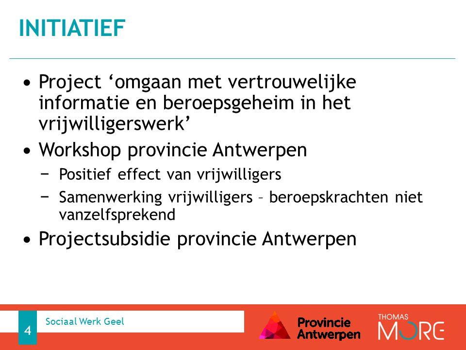 initiatief Project 'omgaan met vertrouwelijke informatie en beroepsgeheim in het vrijwilligerswerk'
