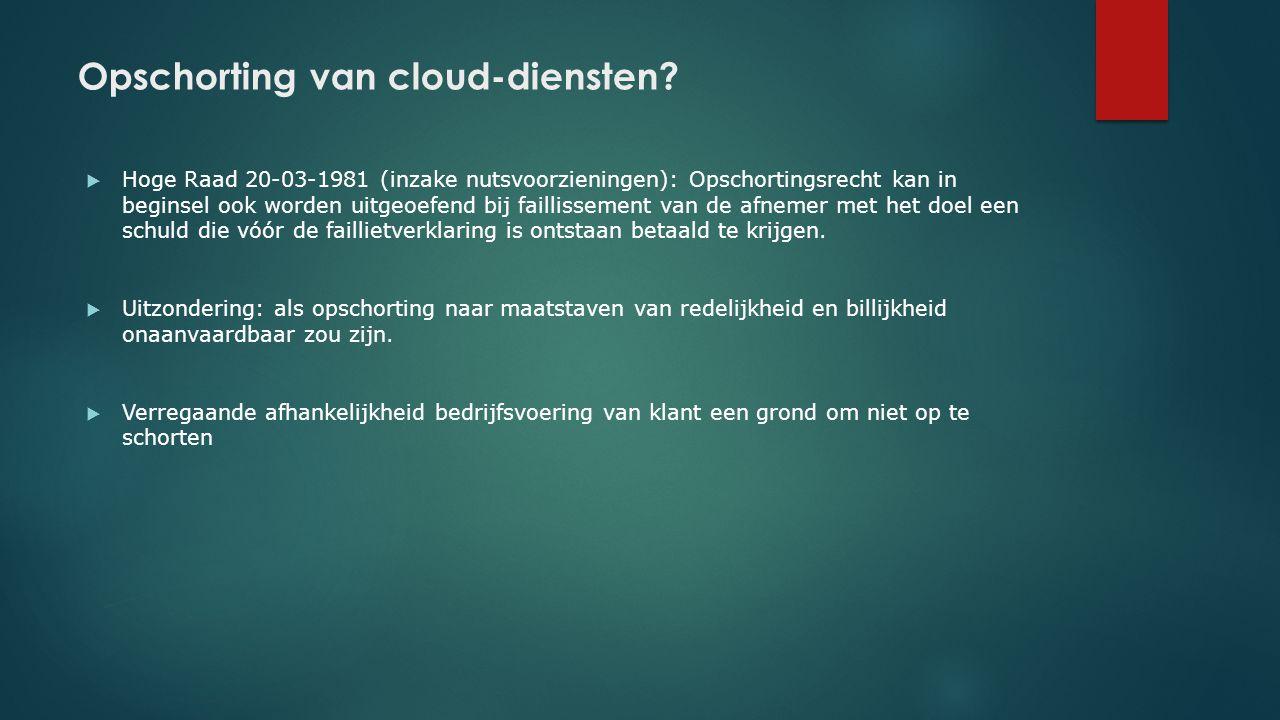 Opschorting van cloud-diensten