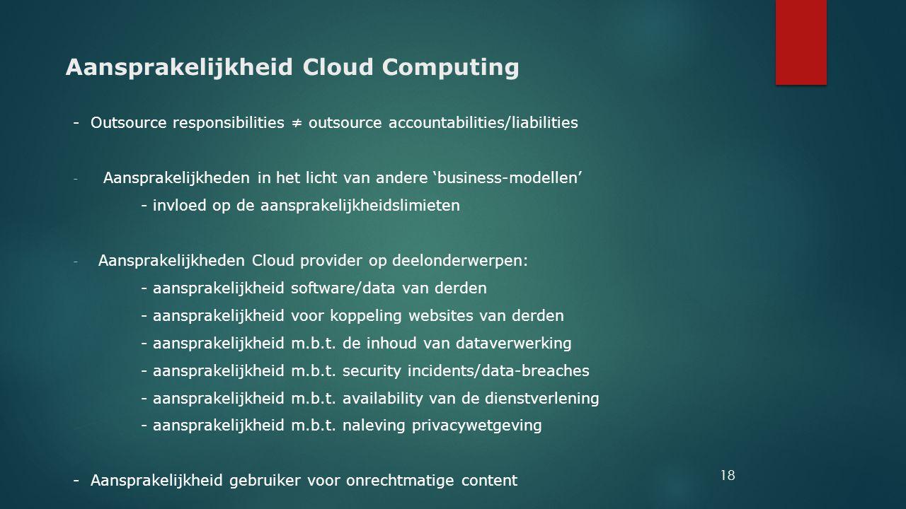 Aansprakelijkheid Cloud Computing