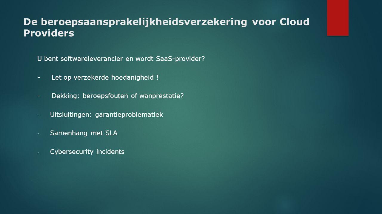 De beroepsaansprakelijkheidsverzekering voor Cloud Providers
