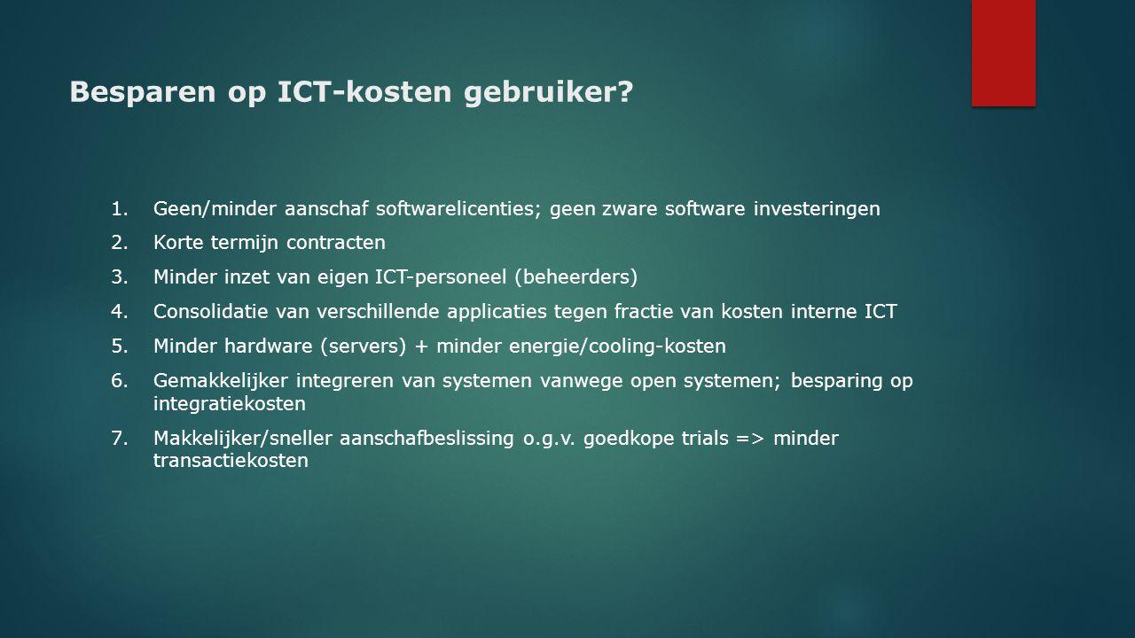 Besparen op ICT-kosten gebruiker