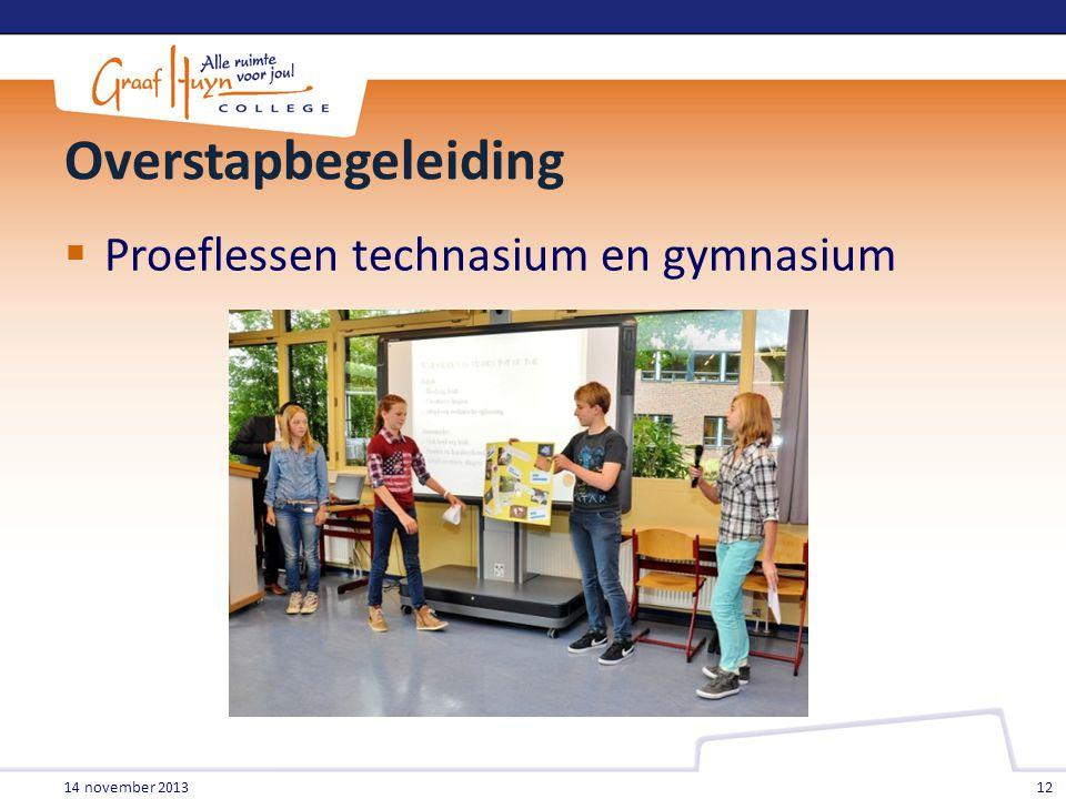 Overstapbegeleiding Proeflessen technasium en gymnasium